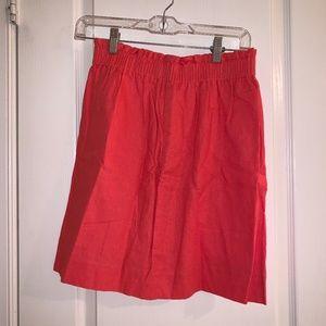 J Crew Linen-cotton sidewalk mini skirt